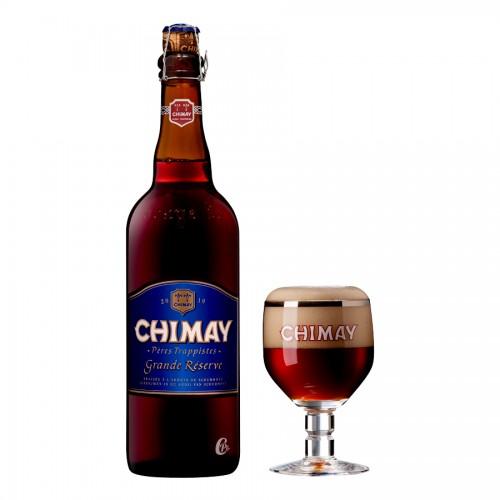 Bouteille de bière Chimay bleue 9° grande réserve 75cl