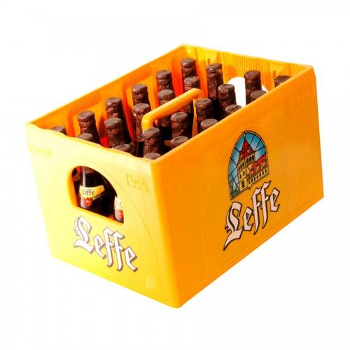 Bouteille de bière Leffe brune