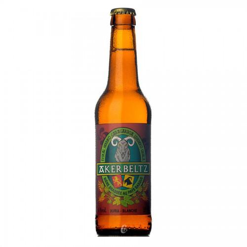 Bouteille de bière Akerbeltz Blanche 4°