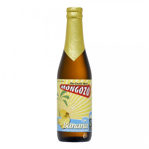 Bouteille de bière Mongozo Banana Beer 4,8° VC1/3