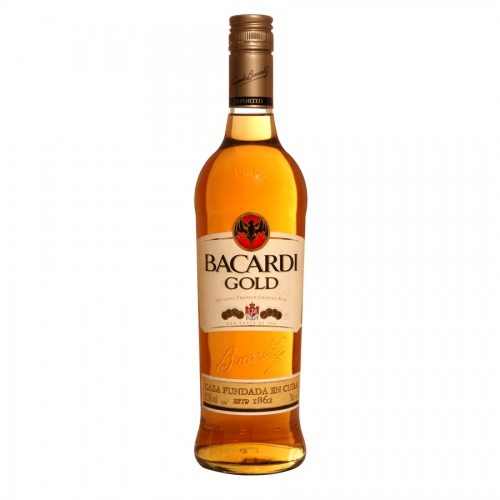 Bouteille de rhum Bacardi Gold 37,5° 70cl.