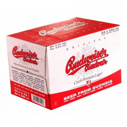 Bouteille de bière Budvar Budweiser