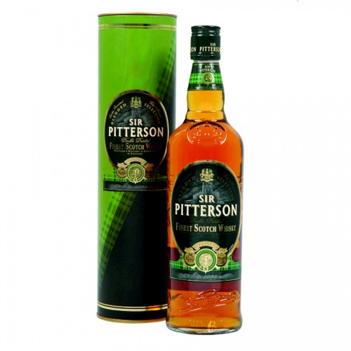 Bouteille de Whisky scotch Sir Pitterson et son coffret