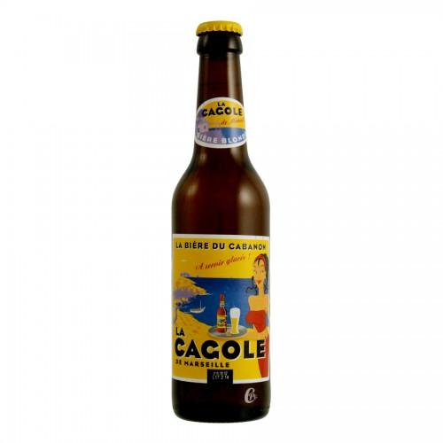 Bouteille de bière LA CAGOLE BLONDE VP33CL 4.7°