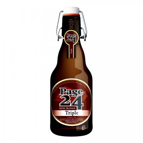 Bouteille de bière PAGE 24 TRIPLE 5.9°