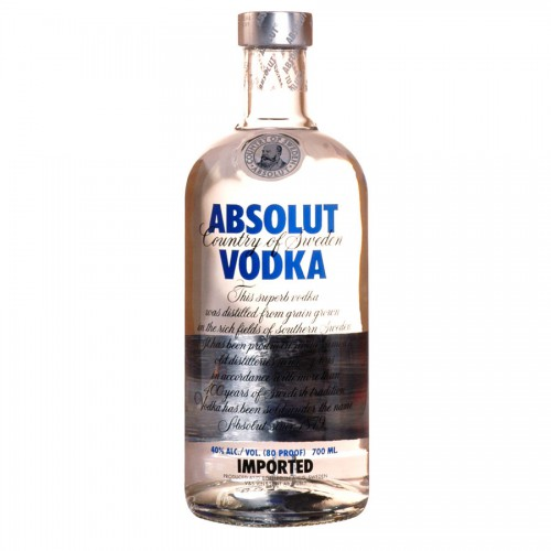 Bouteille de vodka Absolut 40°