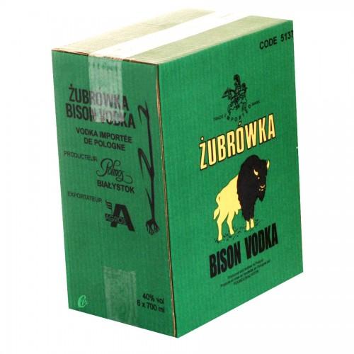 Bouteille de vodka Zubrowka 40° 70cl