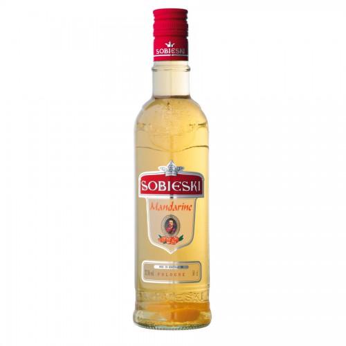 Bouteille de vodka Sobieski Mandarine 37.5° 50cl