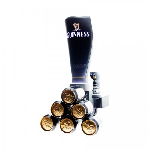 Tireuse a bière Guinness Surger, son verre et ses canettes de guinness surger