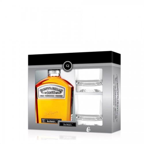 Coffret Jack Daniel's Gentleman et 2 Verres (40° - 70cl.)