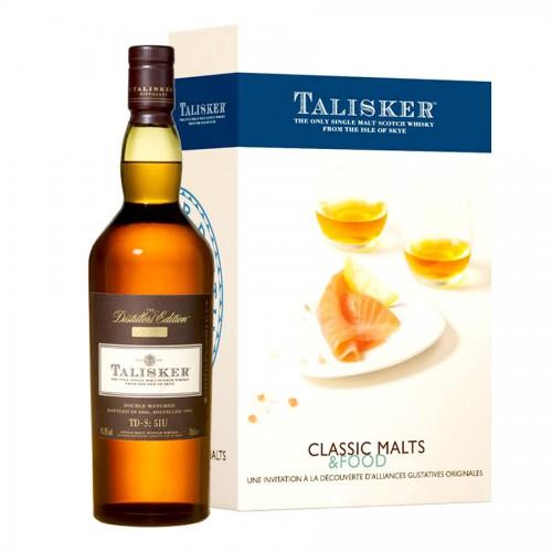 Coffret Whisky Talisker Tablier Malts & Food.