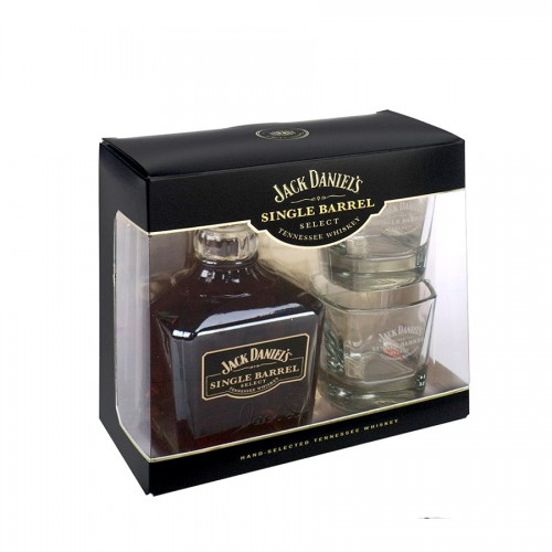 Coffre Whisky Jack Daniel's Single Barrel avec 2 Verres