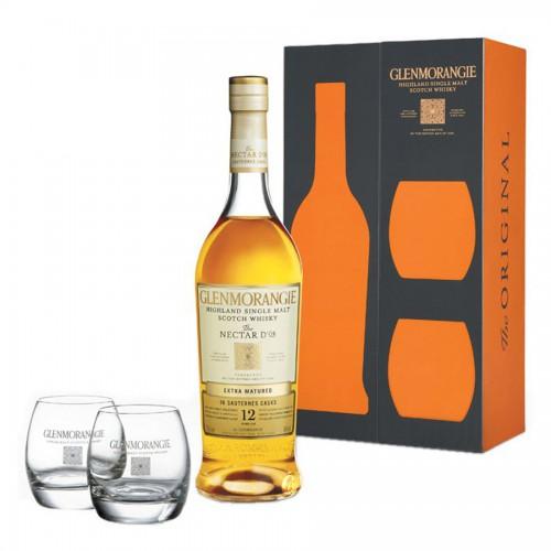 GLENMORANGIE 12 ans Nectar d'Or Coffret 2 Verres (Whisky)
