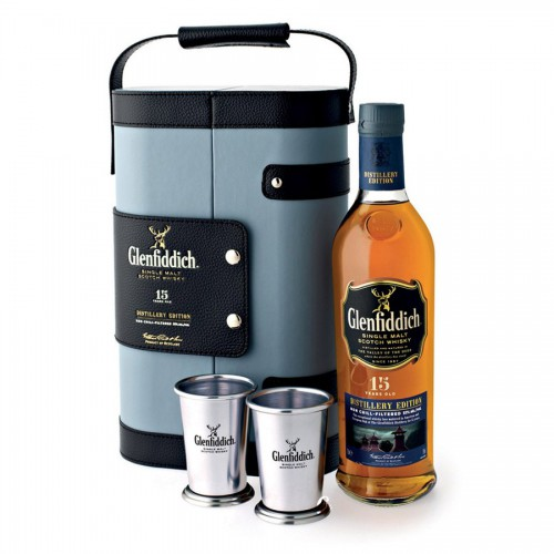 GLENFIDDICH 15 ans Distillery Edition - Jumelles Coffret 2 Timbales