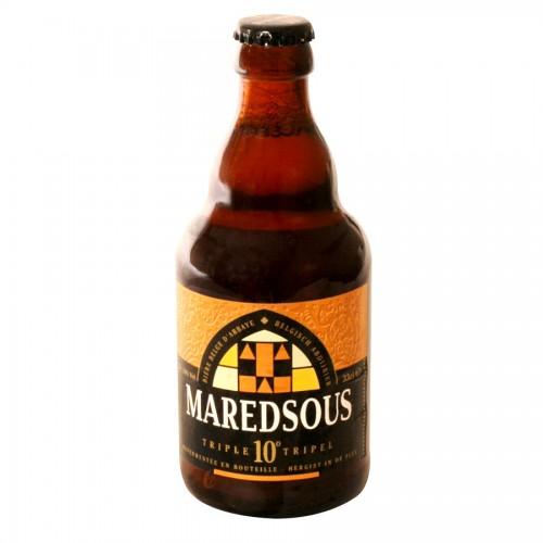 Bouteille de bière Maredsous 10° Ambrée