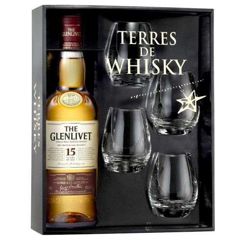 Coffret Terres de Whisky The Glenlivet 15 Ans