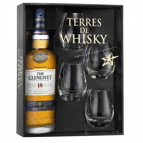 Coffret Terres de Whisky The Glenlivet 18 Ans