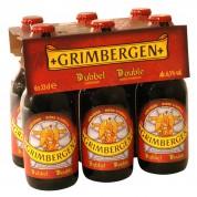 Bouteille de bière Grimbergen double brune