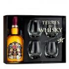 Coffret Terres de Whisky Chivas Régal 12 ans 70 cl et 4 verres de dégustation